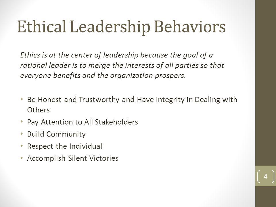 Ethical Leadership Behaviors