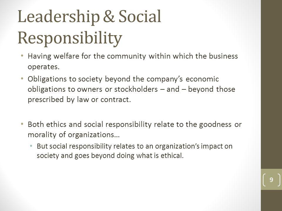 Leadership & Social Responsibility