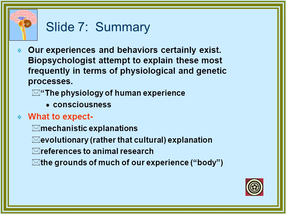 Slide 7: Summary