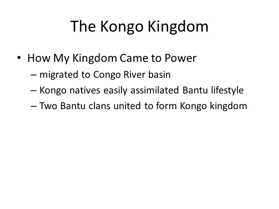 The Kongo Kingdom How My Kingdom Came to Power