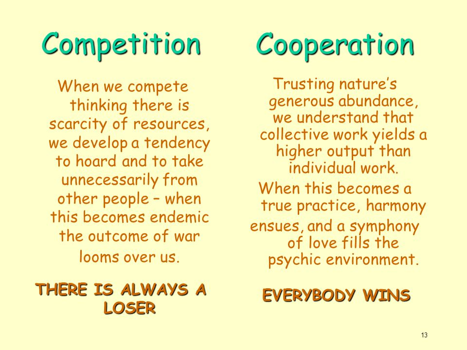 Competition Cooperation