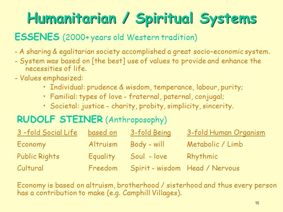 Humanitarian / Spiritual Systems
