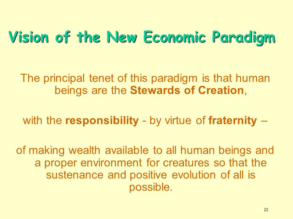 Vision of the New Economic Paradigm