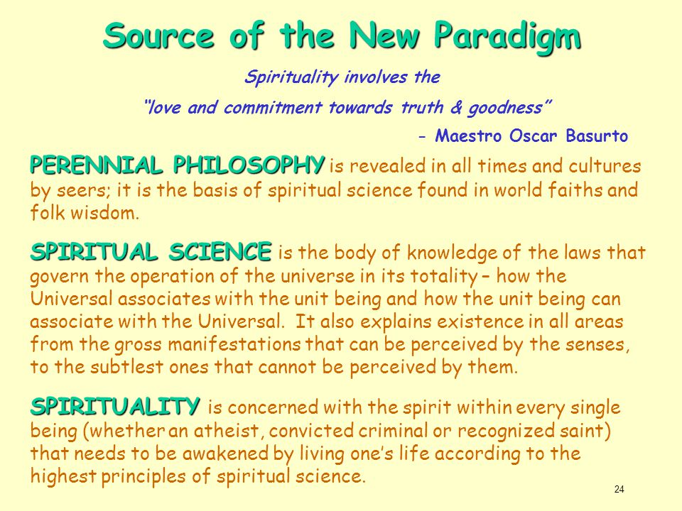 Source of the New Paradigm