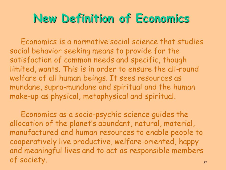 New Definition of Economics