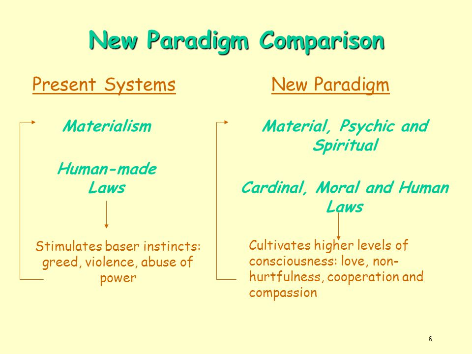 New Paradigm Comparison