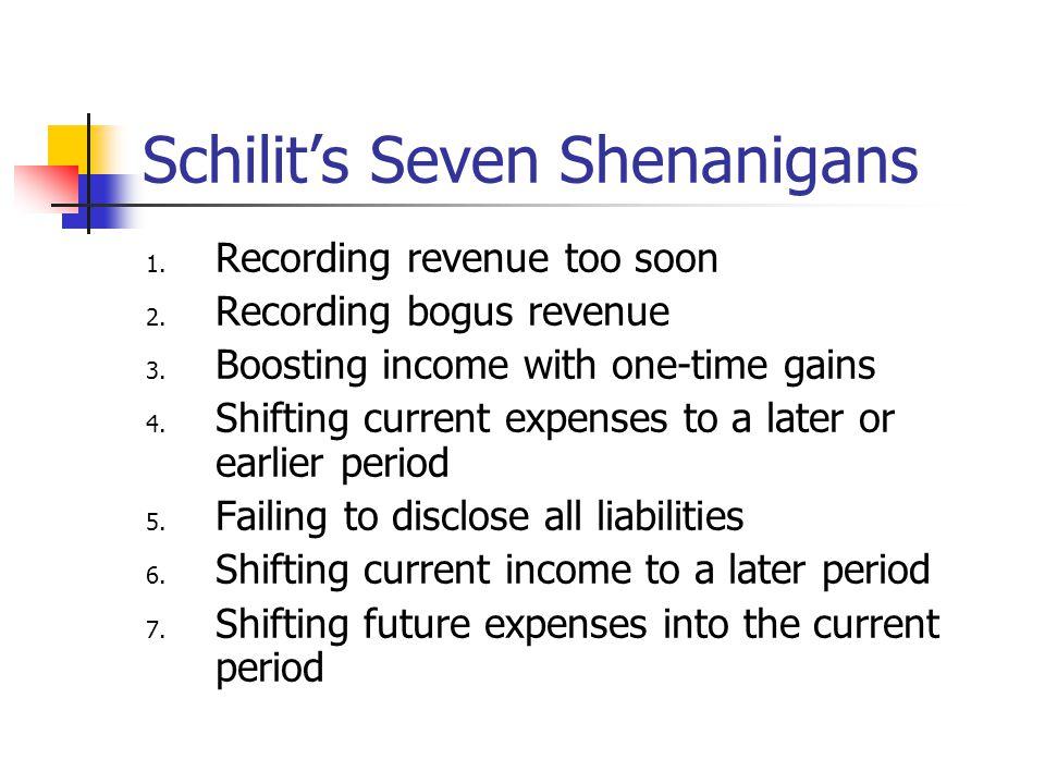 Schilit's Seven Shenanigans