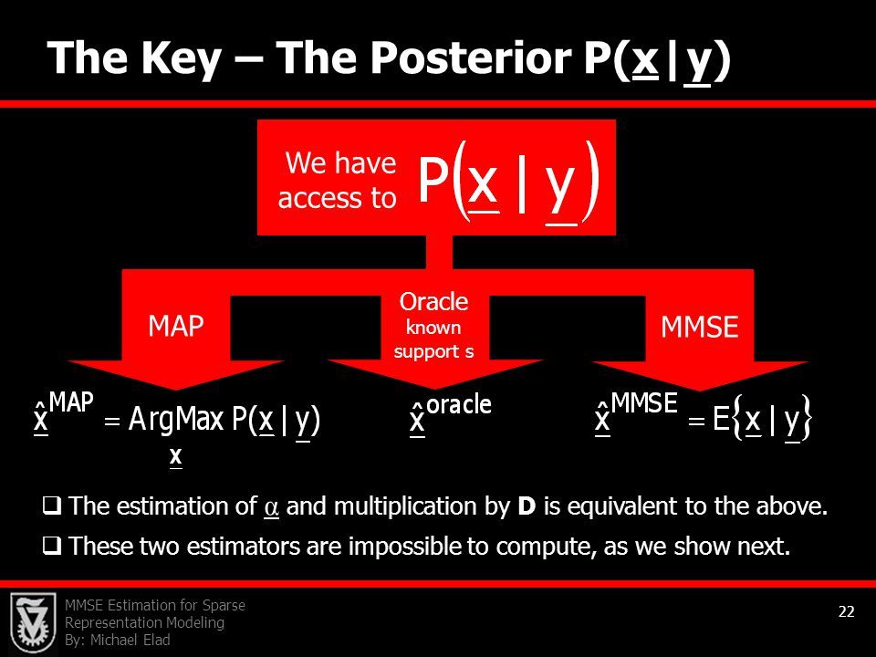 The Key – The Posterior P(x|y)