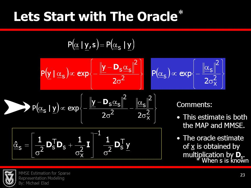 Lets Start with The Oracle