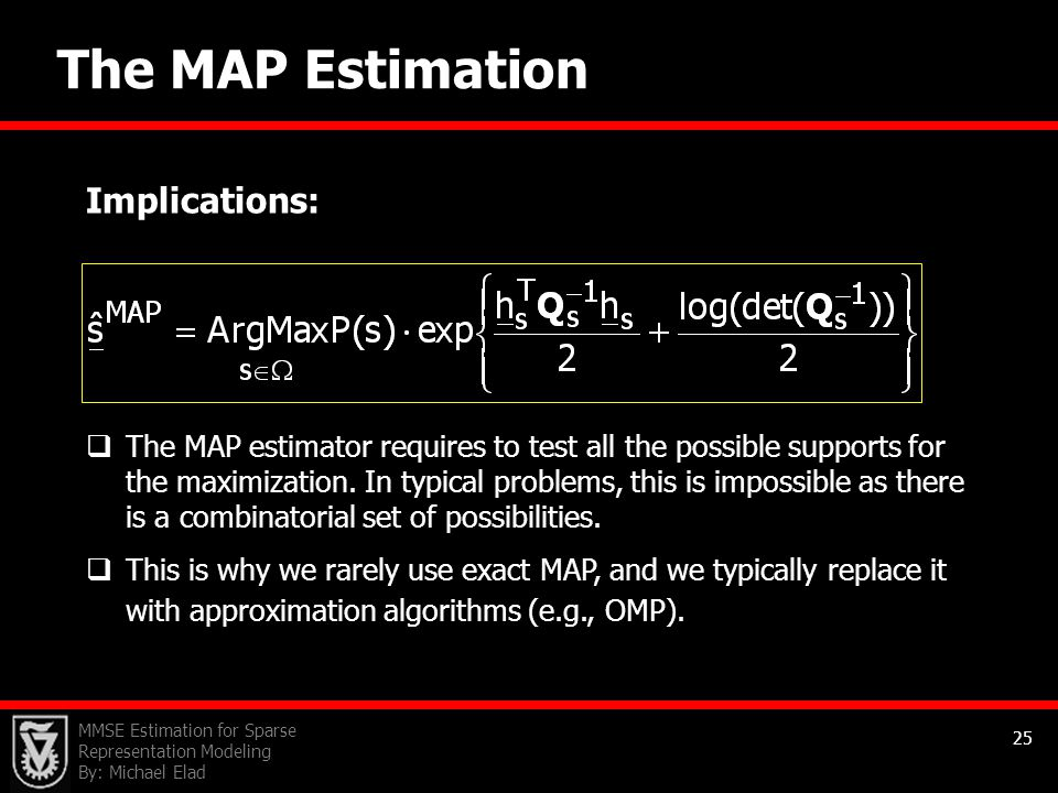 The MAP Estimation Implications: