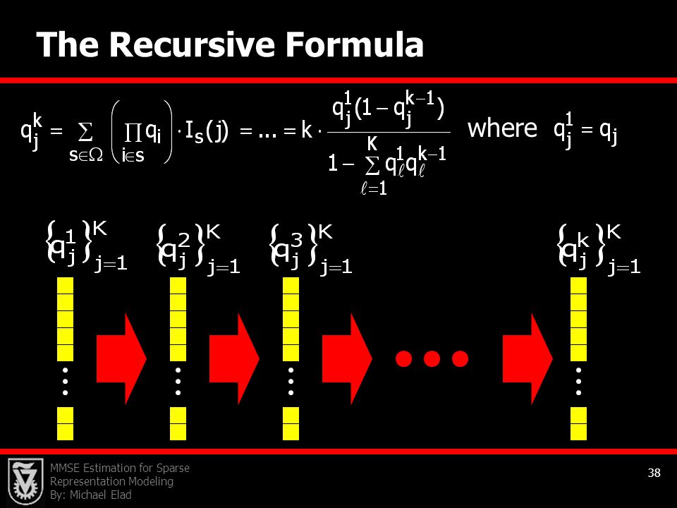 The Recursive Formula where
