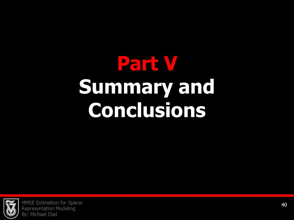 Part V Summary and Conclusions