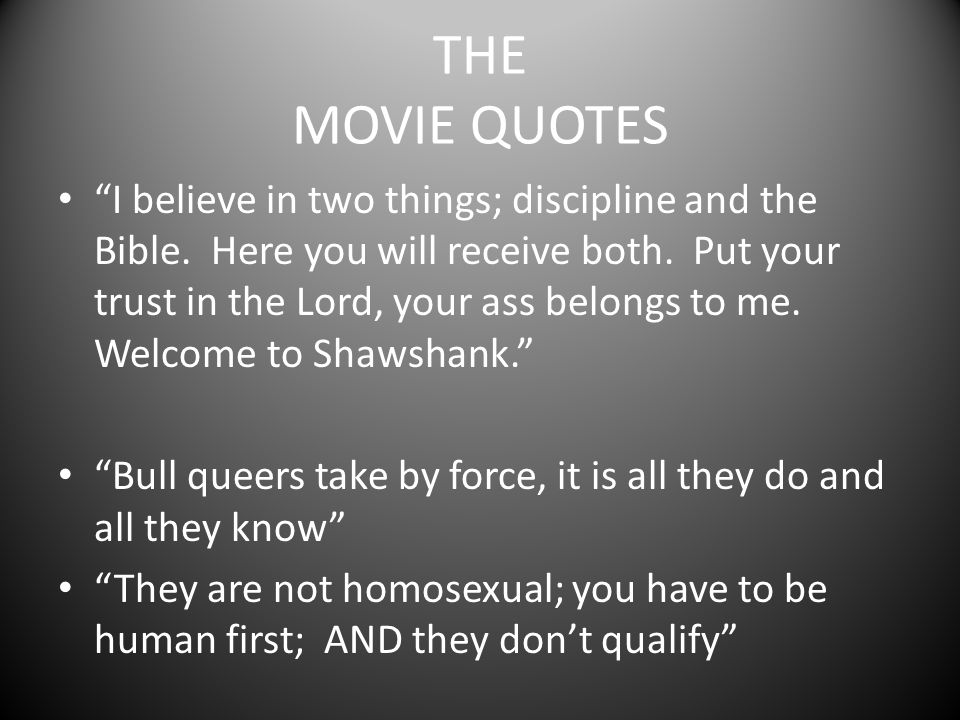 THE MOVIE QUOTES