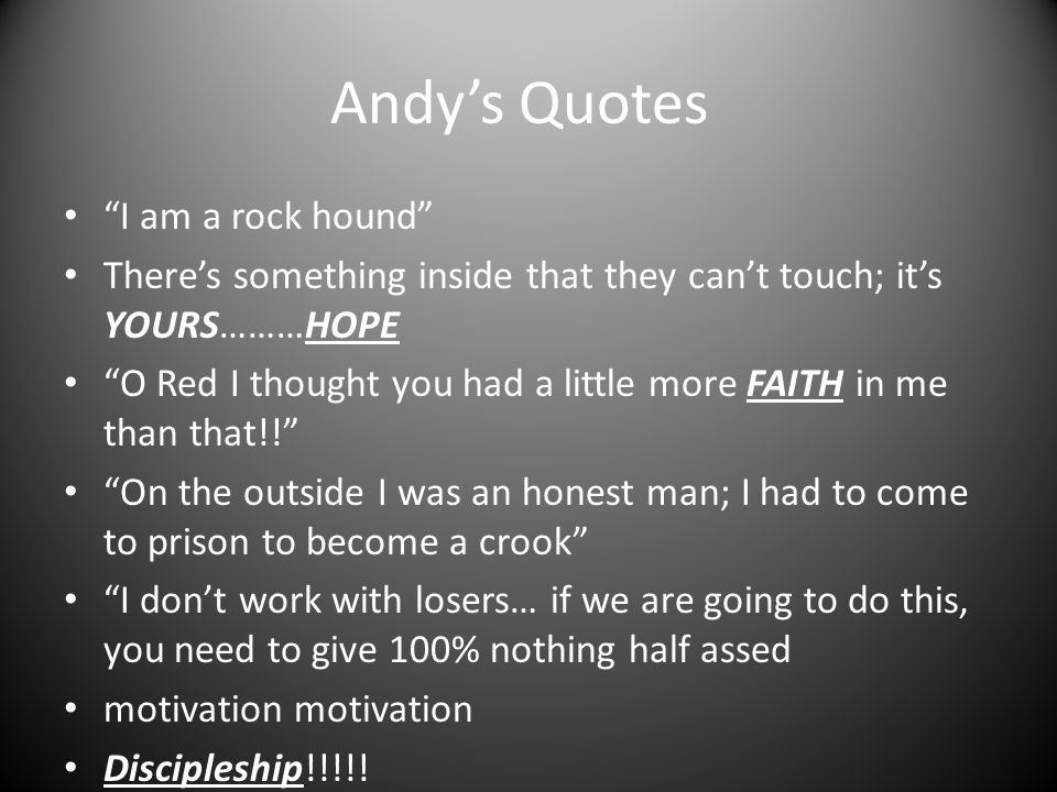 Andy's Quotes I am a rock hound