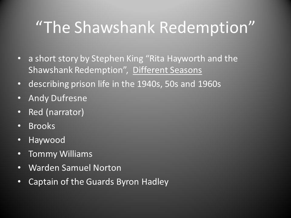shawshank redemption essays courage