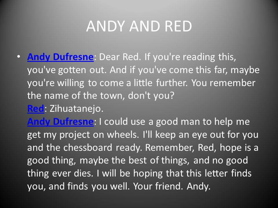 ANDY AND RED