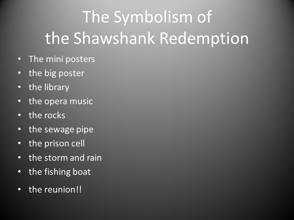 Shawshank Redemption use of Symbolism