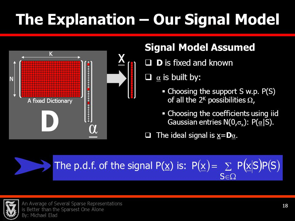 The Explanation – Our Signal Model