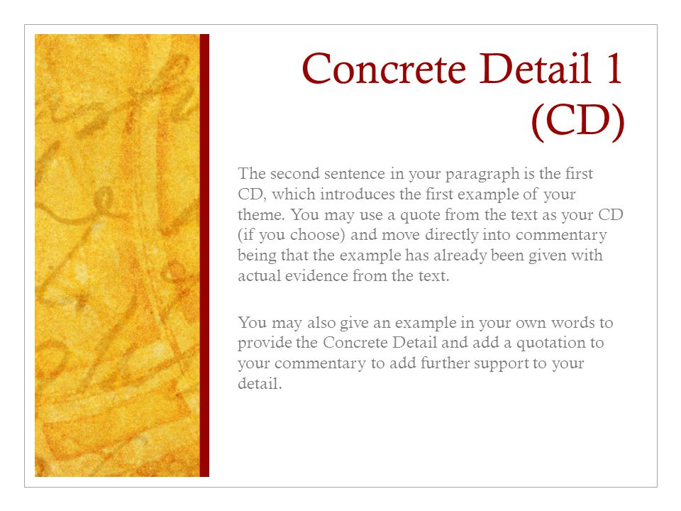 Concrete Detail 1 (CD)