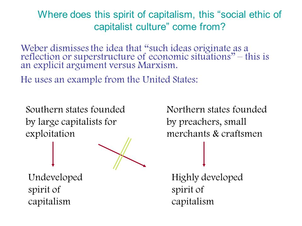 Where does this spirit of capitalism, this social ethic of capitalist culture come from