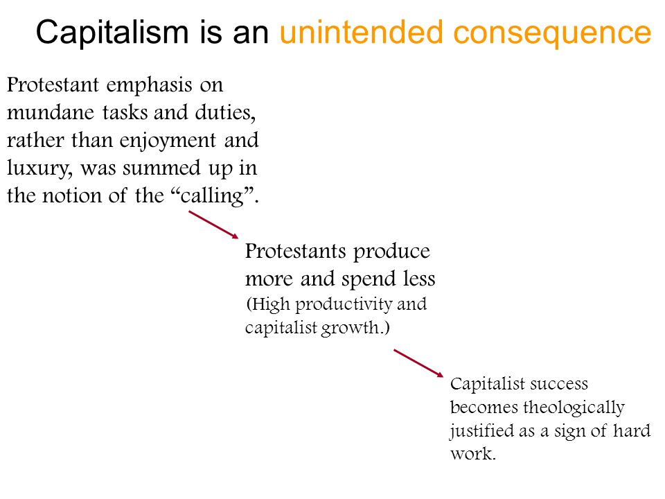 Capitalism is an unintended consequence