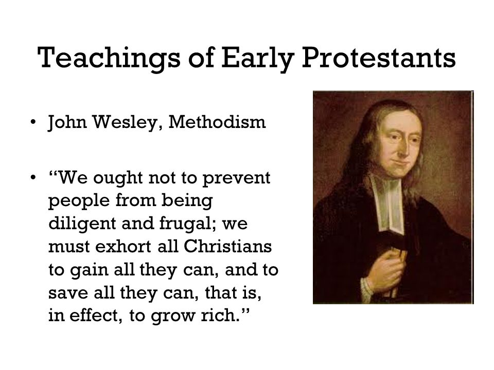 Teachings of Early Protestants