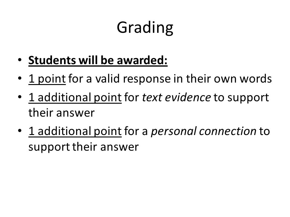Grading Students will be awarded: