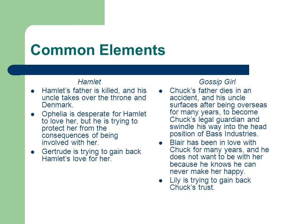 Common Elements Hamlet