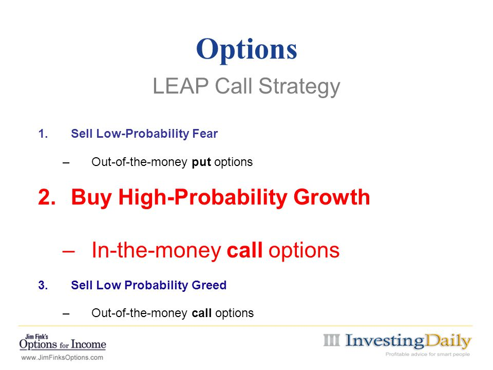 Options LEAP Call Strategy Buy High-Probability Growth