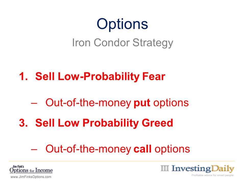 Options Iron Condor Strategy Sell Low-Probability Fear