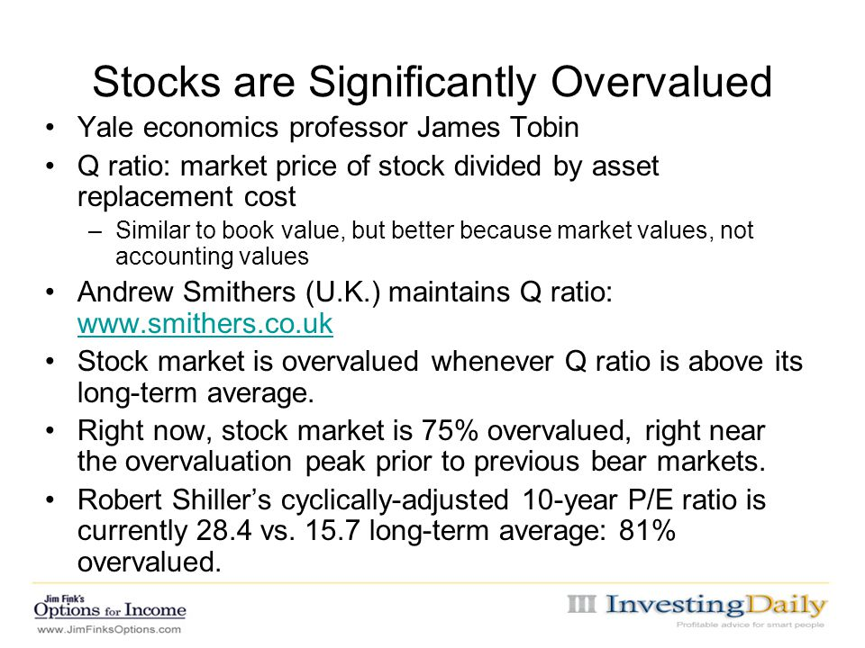 Stocks are Significantly Overvalued