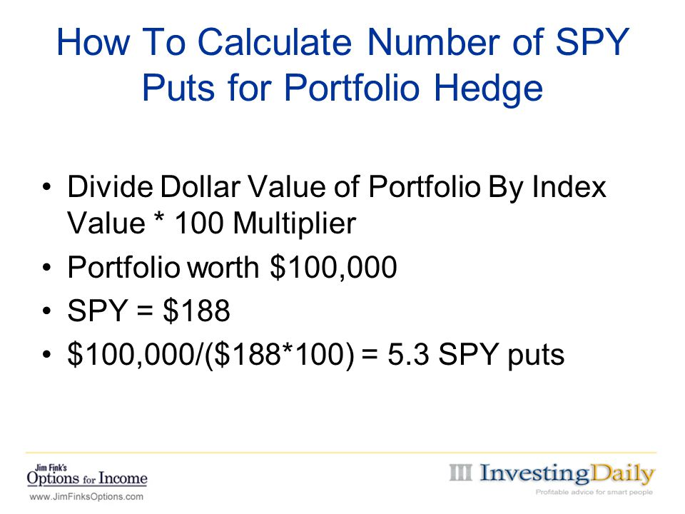 How To Calculate Number of SPY Puts for Portfolio Hedge
