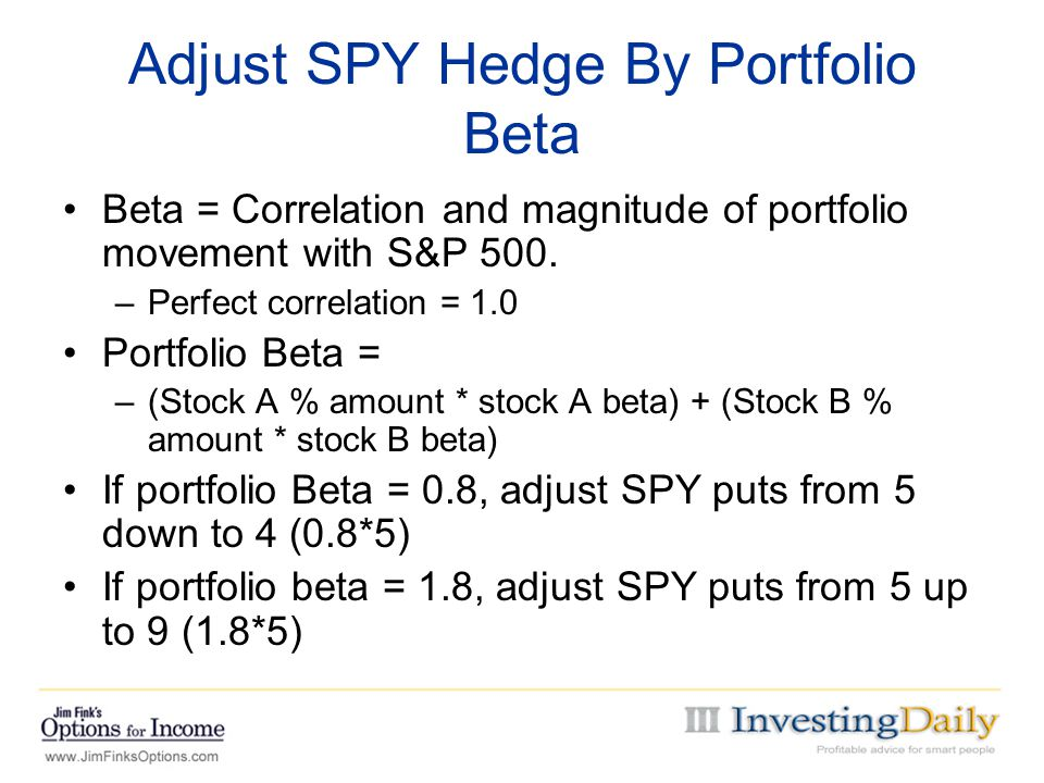 Adjust SPY Hedge By Portfolio Beta