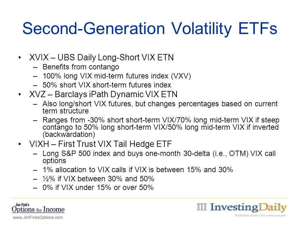 Second-Generation Volatility ETFs