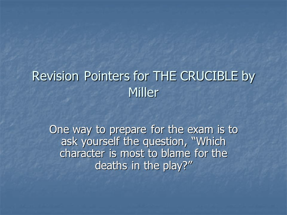 ib english the crucible International baccalaureate critical essay arthur miller's the crucible  looking for expert help with your english work.