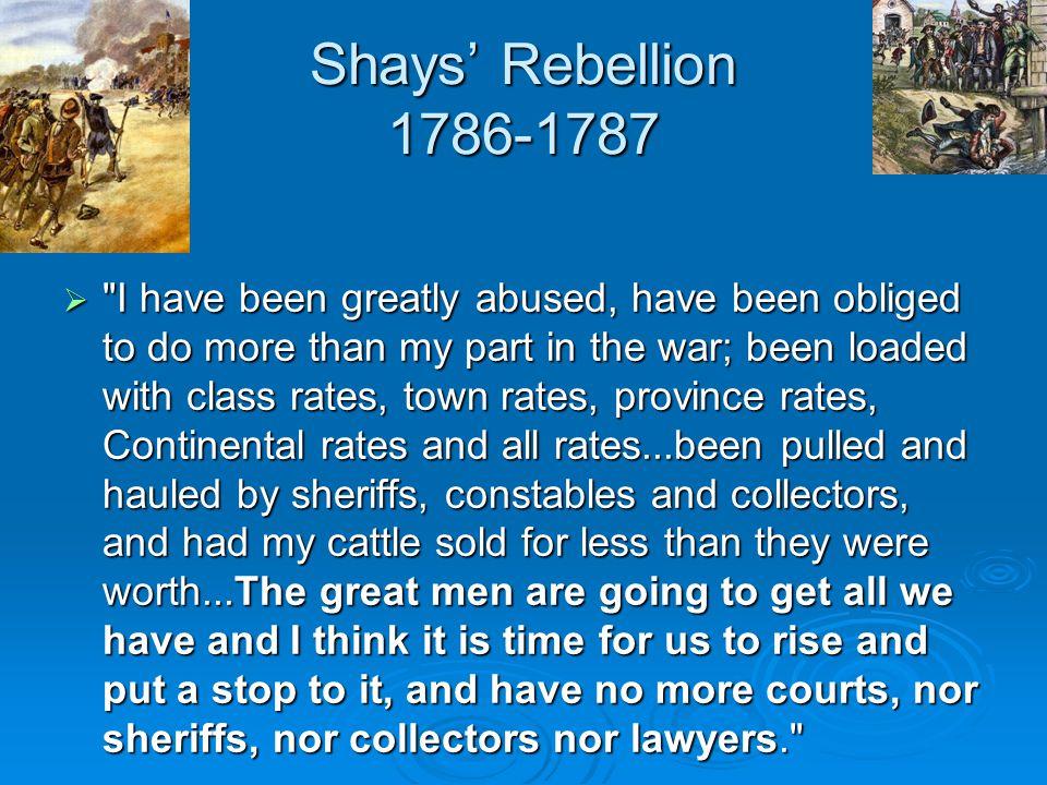Shays' Rebellion 1786-1787