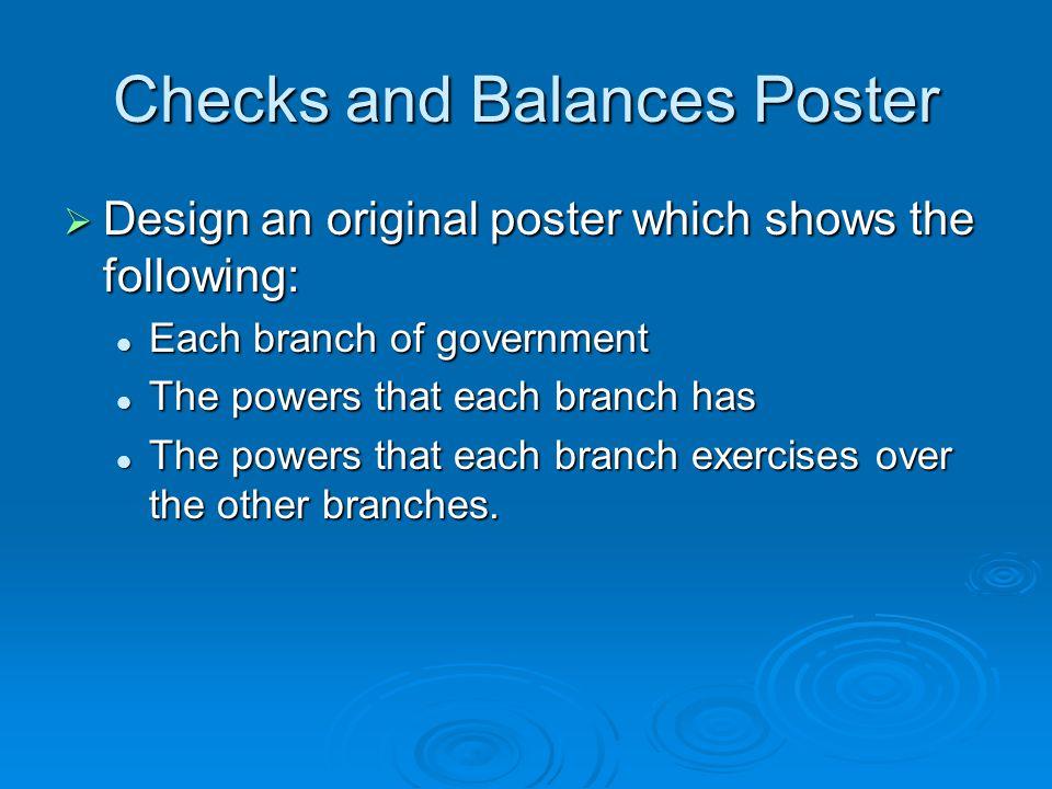 Checks and Balances Poster