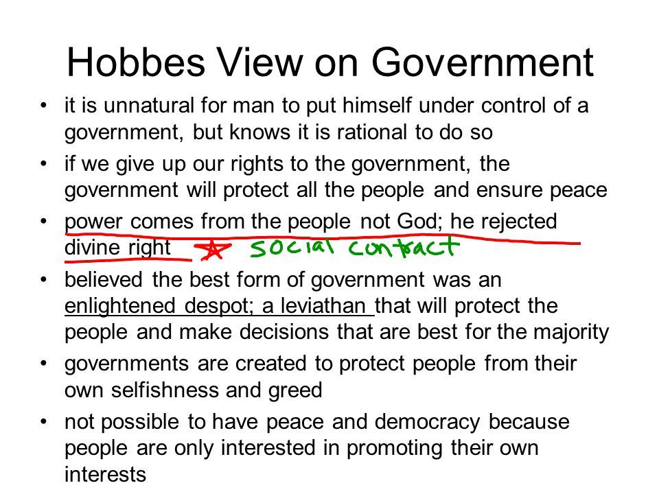 Hobbes View on Government