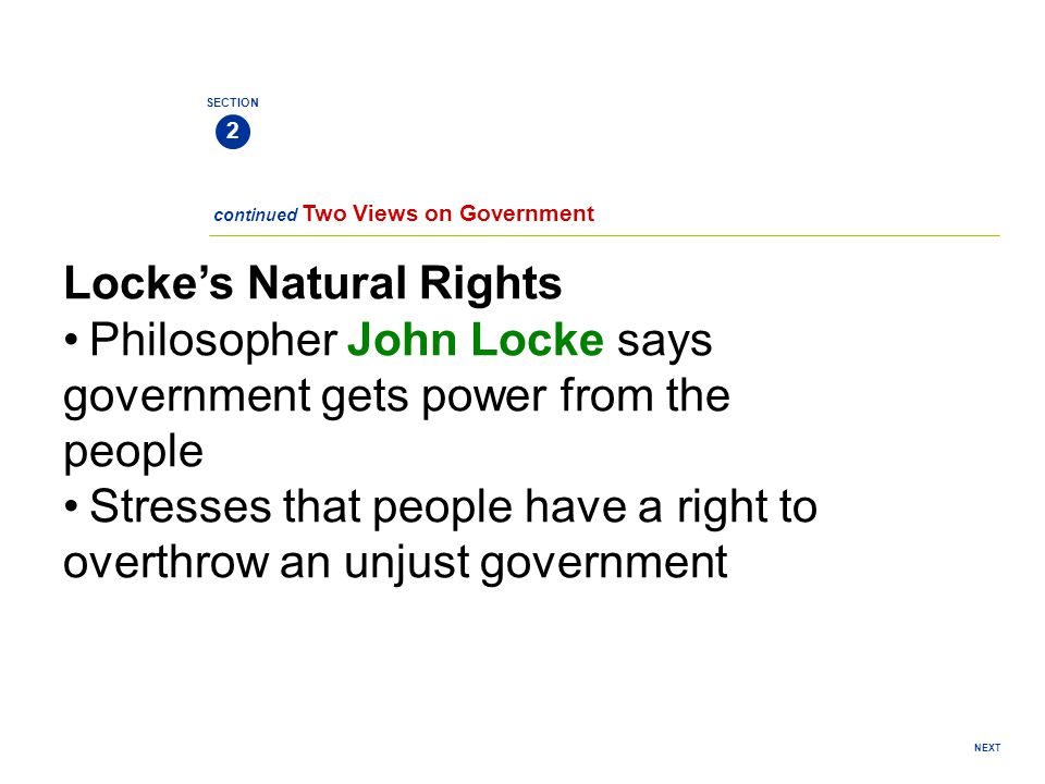 Locke's Natural Rights