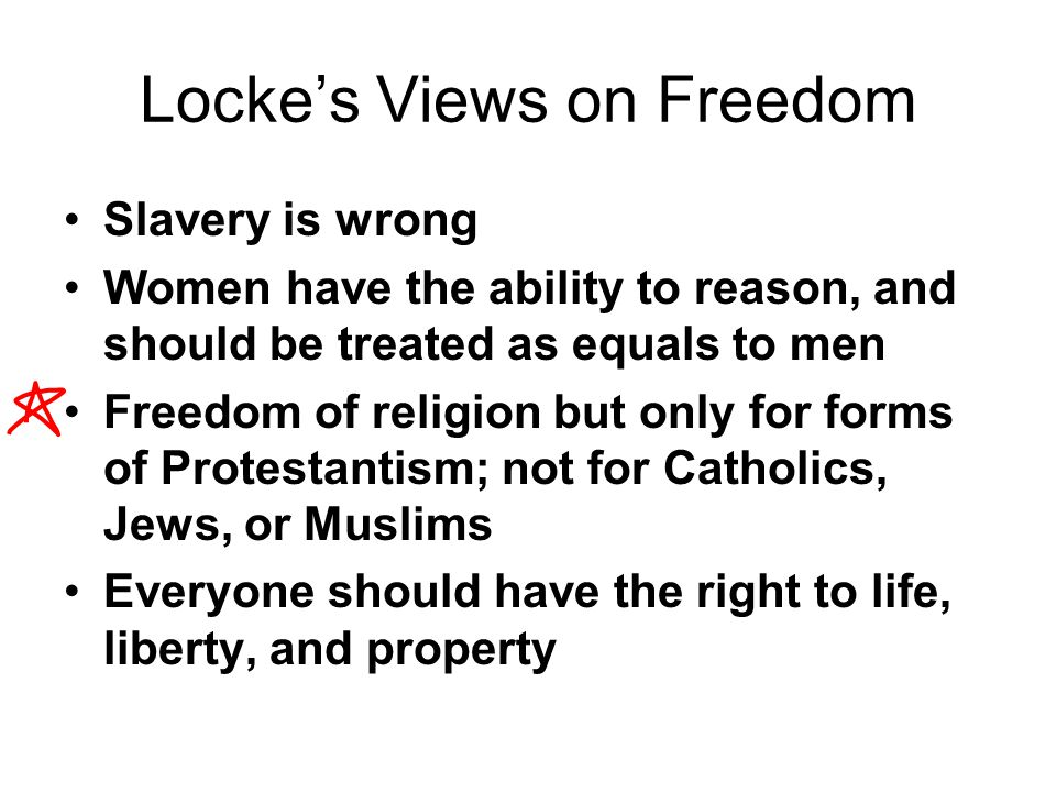 Locke's Views on Freedom