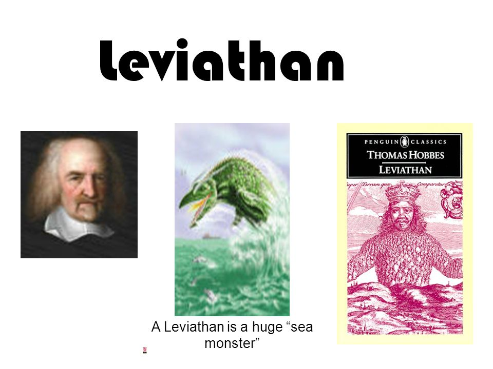 A Leviathan is a huge sea monster