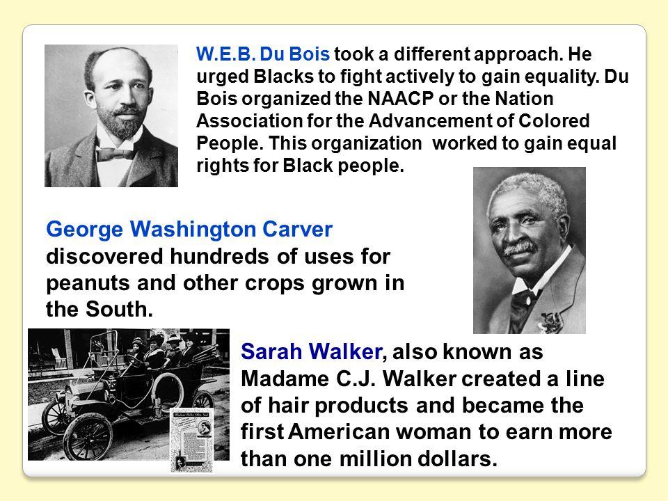 W. E. B. Du Bois took a different approach