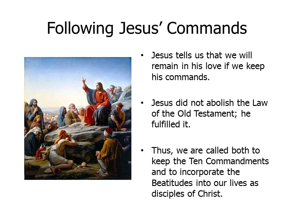 Following Jesus' Commands