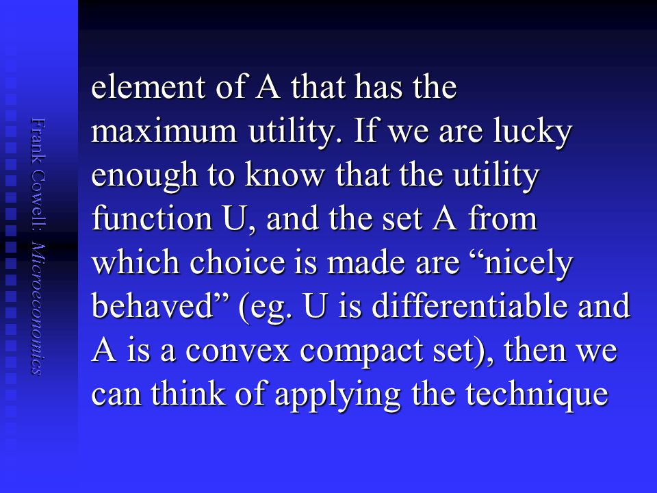 element of A that has the