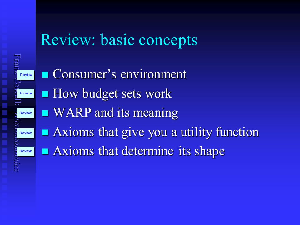 Review: basic concepts