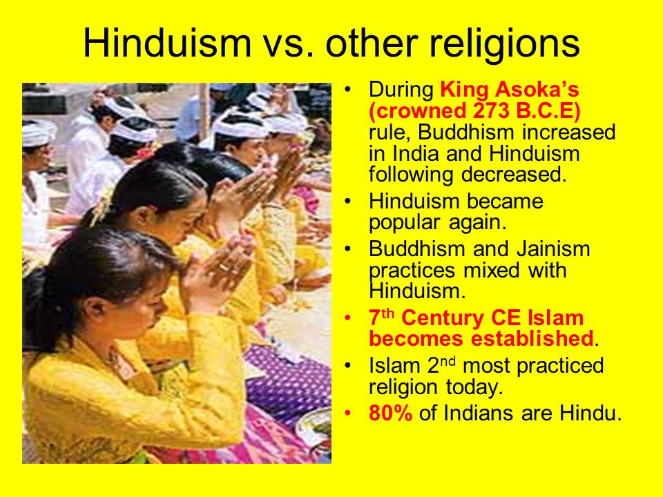 Hinduism vs. other religions