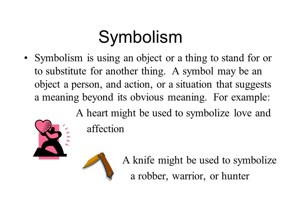 Attitude meaning symbolism and allegory
