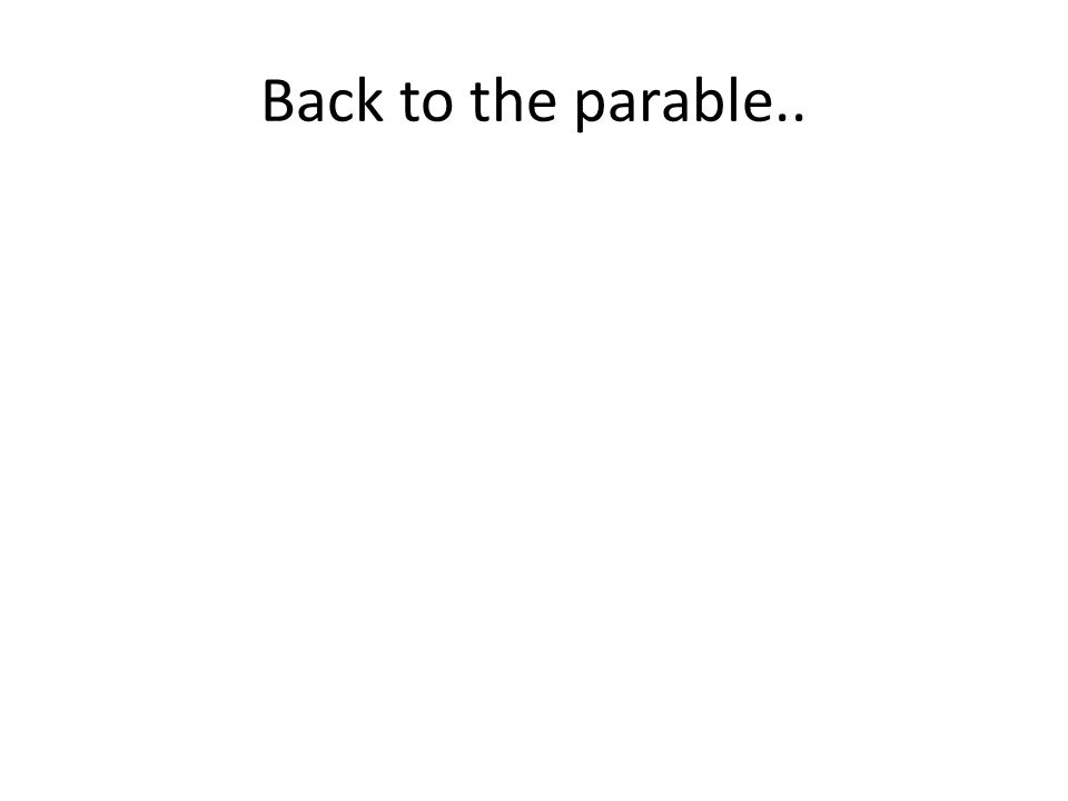 Back to the parable..