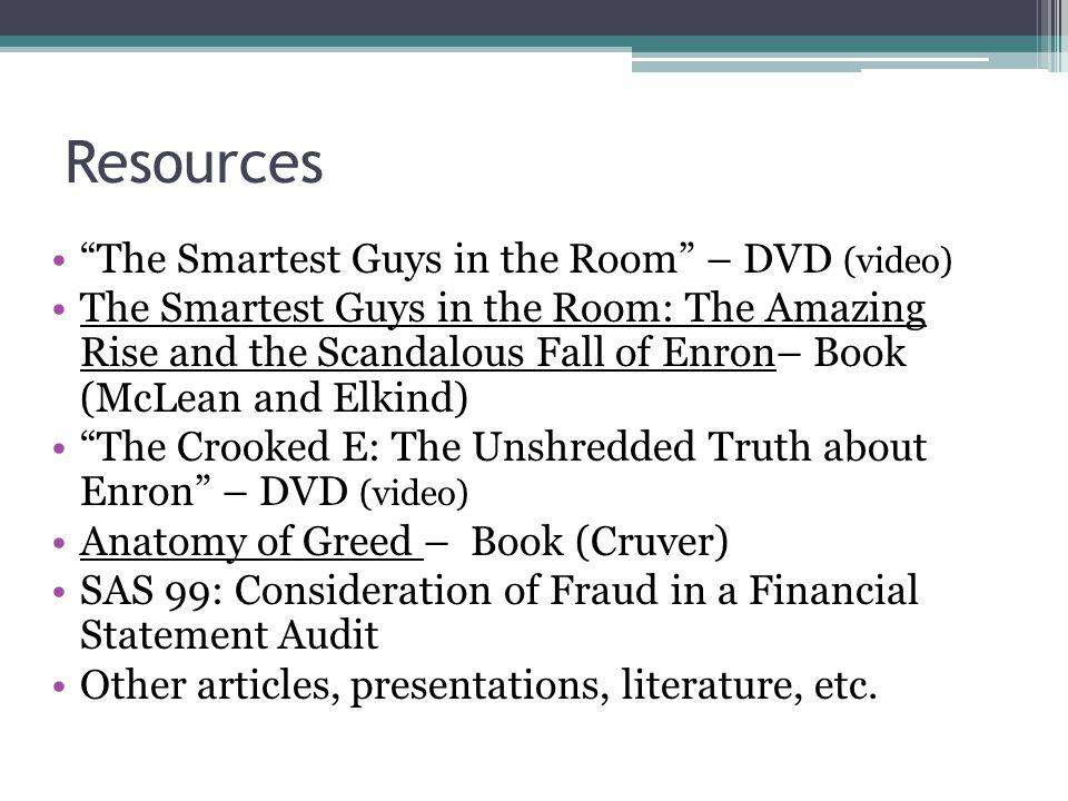 Resources The Smartest Guys in the Room – DVD (video)