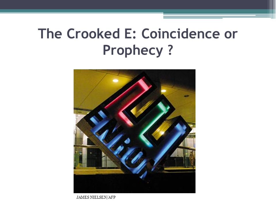 The Crooked E: Coincidence or Prophecy